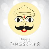 picture of ravana  - Illustration of Ravana face in childish way with stylish text on seamless grey background - JPG