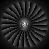 pic of rotor plane  - Jet engine turbine blades - JPG