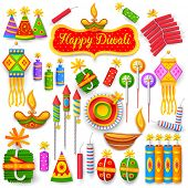 picture of diwali  - illustration of set of colorful firecracker for Diwali holiday fun - JPG