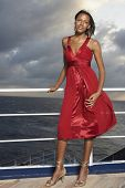 pic of evening gown  - Mixed Race women wearing evening gown - JPG