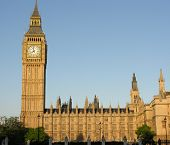 pic of big-ben  - Big Ben bell tower and Houses of Parliament - JPG