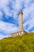 stock photo of manga  - Cabo de Palos lighthouse near Manga Mar Menor Murcia at Spain - JPG