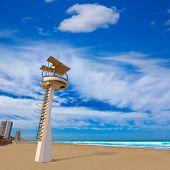 stock photo of manga  - La Manga del Mar Menor beach in Murcia Spain Playa Barco Perdido at Mediterranean - JPG