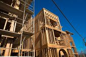 foto of 2x4  - Wooden framing for construction of new condominiums - JPG