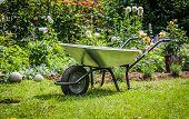 picture of wheelbarrow  - Work in garden - JPG