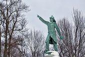 image of firefighter  - Firefighter memorial in Buffalo - JPG