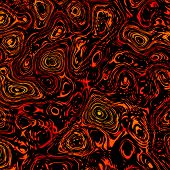 stock photo of mitosis  - Abstract thick orange black liquid - JPG