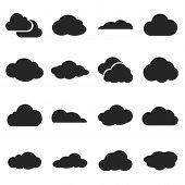 pic of shapes  - Cloud shapes vector set cloud logo icons for cloud computing for web and app - JPG