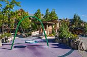 picture of playground  - Empty children playground in the city - JPG