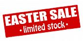image of scant  - Stamp with text Easter sale limited stock inside vector illustration - JPG