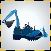picture of ripper  - Shoes in the form of a tractor - JPG