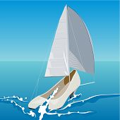 stock photo of sailfish  - Woman shoes in the form of a sailboat - JPG