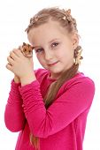 pic of hamster  - Charming girl holding a hamster in his fist - JPG