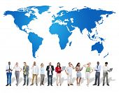 picture of globalization  - World Global Map Globalization Concept - JPG