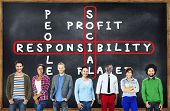 pic of responsibility  - Social Responsibility Reliability Dependability Ethics Concept - JPG