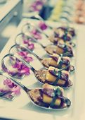 pic of banquet  - Canapes with cured ham  - JPG