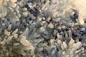 picture of ore lead  - white crystal in the lead as nice natural background - JPG