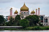picture of mosk  - Pink mosque in Kuching capital of Sarawak Borneo - JPG
