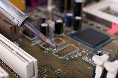 foto of rework  - Repairing of motherboard - JPG