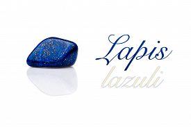 picture of lapis lazuli  - Beautiful blue lapis lazuli gem stone - JPG