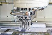 pic of sewing  - Sewing machine in Sewing Factory Chiang Mai Thailand - JPG