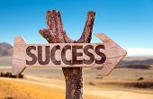 image of prosperity sign  - Success direction sign with desert background - JPG