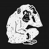 pic of orangutan  - Orangutan Monkey Doodle - JPG