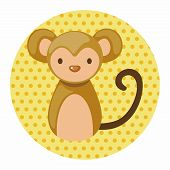 stock photo of chinese zodiac animals  - Chinese Zodiac Monkey Theme Elements - JPG