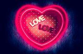 pic of fluorescent light  - Heart - JPG
