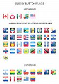 picture of south american flag  - Set of glossy button flags  - JPG