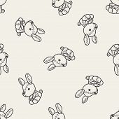foto of rabbit year  - Rabbit Doll Doodle - JPG