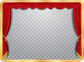 foto of curtains stage  - vector stage with red curtain - JPG