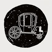 picture of cinderella coach  - Carriage Doodle - JPG