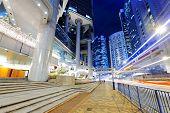 pic of hong kong bridge  - hong kong traffic at night - JPG