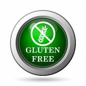 stock photo of wheat-free  - Gluten free icon - JPG