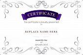 picture of certificate  - Certificate template - JPG