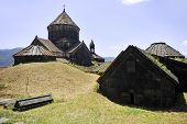 pic of armenia  - Architecture shot with the ancient orthodox Haghpat monastery in Armenia - JPG