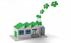 stock photo of environmentally friendly  - Environmentally friendly factory concept - JPG