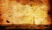 Постер, плакат: старомодный Эйфелева башня Париж Франция