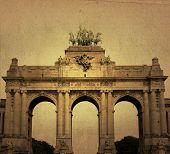 Europe cityscape - landmark of Brussels poster