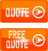 free quote button orange.