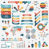 Collection of infograph people elements for business. Vector illustration. Infographic pictograms. I poster