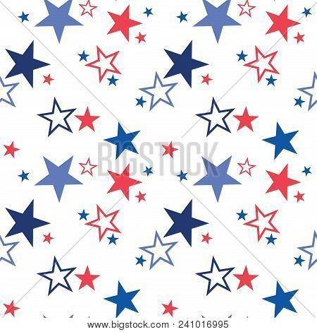 Vector Seamless Pattern With Patriotic