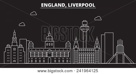 Liverpool Silhouette Skyline Great Britain