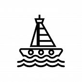 Sailing Yacht Vector Icon On White Background. Sailing Yacht Modern Icon For Graphic And Web Design. poster