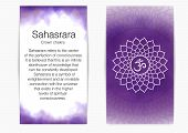 Seventh, Crown Chakra - Sahasrara. Illustration Of One Of The Seven Chakras. The Symbol Of Hinduism, poster