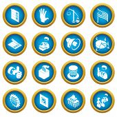 Election Voting Icons Set. Simple Illustration Of 16 Election Voting Icons Set Vector Icons For Web poster