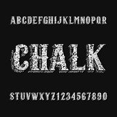 Chalk Board Alphabet Font. Hand Drawn Letters And Numbers. Stock Vector Typeset For Any Typography D poster