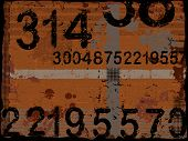 Grunge Numbers background - Separate vector Layers can be used as a graphic background wallpaper or