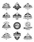 Vector Mountain Recreation And Cabin Rentals Logo poster